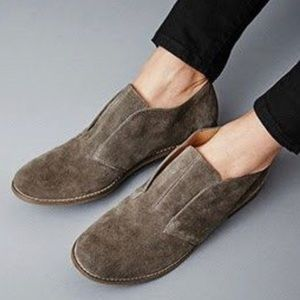 Suede Loafers Round Toe Slip On